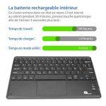 1byone Clavier Bluetooth AZERTY avec Multi Touchpad Ultra Fin, Clavier Tactile Pour Android et Windows de la marque 1Byone image 1 produit