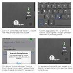1byone Clavier Bluetooth AZERTY avec Multi Touchpad Ultra Fin, Clavier Tactile Pour Android et Windows de la marque 1Byone image 4 produit