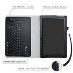 "Acer Iconia One 10 B3-A40 Bluetooth Keyboard Coque,Mama Mouth Détachable Clavier Bluetooth PU Cuir debout Fonction Housse Coque Étui 10.1"" Acer Iconia One 10 B3-A40 Android Tablet,Noir de la marque Mama Mouth image 3 produit"