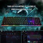 ACGAM Chroma Claviers Mécanique RGB Keyboard Française Layout Clavier Programmable Gaming Mechanical Keyboard avec 105 touches,RGB Rétro-éclairé illuminé, Anti-fantôme,Design ergonomique de la marque ACGAM image 3 produit