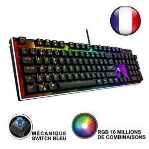 ACGAM Chroma Claviers Mécanique RGB Keyboard Française Layout Clavier Programmable Gaming Mechanical Keyboard avec 105 touches,RGB Rétro-éclairé illuminé, Anti-fantôme,Design ergonomique de la marque ACGAM image 0 produit