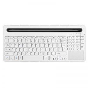 Alitoo Clavier sans fil Bluetooth avec pavé tactile et rechargeable pour Ipad Air Mini, Mac, ordinateur portable, Apple et tablettes PC Multi-Device (Blanc) de la marque Alitoo image 0 produit