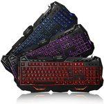 aLLreLi K617 Clavier Gaming USB Rétroéclairé LED 3 Couleur (FR Layout, Azerty) de la marque aLLreli image 1 produit