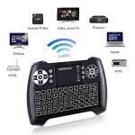 ANEWKODI Mini Clavier Rétro-éclairé Sans fil, 2.4GHz Mini Clavier de Souris Combo, Mini Clavier Wireless Télécommande, pour Téléviseur intelligent, HTPC, IPTV, Téléviseur Android, XBOX360, PS3, PC, etc. de la marque ANEWKODI image 4 produit