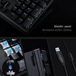 AUKEY Clavier Mécanique Gamer USB LED Rétro-éclairé Blue Commutateurs 105 Touches AZERTY Clavier Gaming de Panneau en Métal 100% Aucun de Conflit avec Outil d'Extracteur de Keycap pour Joueur, Dactylo, etc de la marque Aukey image 1 produit