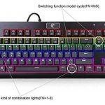 Black Mechanical Eagle Z-77 Multicolore LED Backlit mécanique clavier de jeu avec des interrupteurs bleus, Clavier 87 touches anti-Ghosting de la marque Yishang image 3 produit