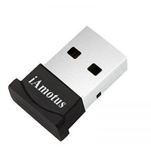 Bluetooth Adaptateur, iAmotus USB Bluetooth Adaptateur 4. 0 + EDR Sans Fil Adaptateur [Basse énergie] Plug Play USB Dongle Pour PC, Casque, Ordinateur Portable, Windows 10 / 8,1 / 8 / 7 / Vista, Données, Clavier, Souris, Imprimante de la marque image 0 produit