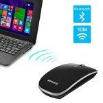 Bongem® ULTRAFIN Mute Button sans fil Bluetooth Mouse, 600mA batterie au lithium rechargeable intégrée, pour OS Windows, Mac OS et Android 4.0OS Up–Noir de la marque BONGEM image 4 produit