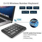 Bossgo Pavé numérique sans fil clavier numérique mini avec récepteur USB 2.4G pour MacBook iMac Windows Ordinateur portable de bureau avec 2 petites tablettes anti-dérapantes 18clés de la marque Bossgo image 4 produit