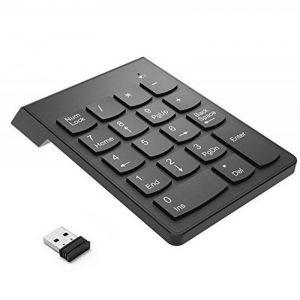 Bossgo Pavé numérique sans fil clavier numérique mini avec récepteur USB 2.4G pour MacBook iMac Windows Ordinateur portable de bureau avec 2 petites tablettes anti-dérapantes 18clés de la marque Bossgo image 0 produit