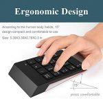 Bossgo Pavé numérique sans fil clavier numérique mini avec récepteur USB 2.4G pour MacBook iMac Windows Ordinateur portable de bureau avec 2 petites tablettes anti-dérapantes 18clés de la marque Bossgo image 2 produit