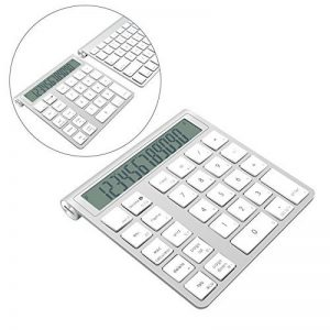 Cateck 2 en 1 clavier et calculatrice Bluetooth intelligent Combo sans fil en aluminium pour clavier Apple Magic sans fil [2 piles AAA incluses] de la marque Cateck image 0 produit