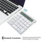 Cateck 2 en 1 clavier et calculatrice Bluetooth intelligent Combo sans fil en aluminium pour clavier Apple Magic sans fil [2 piles AAA incluses] de la marque Cateck image 3 produit