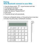 Cateck 2 en 1 clavier et calculatrice Bluetooth intelligent Combo sans fil en aluminium pour clavier Apple Magic sans fil [2 piles AAA incluses] de la marque Cateck image 6 produit