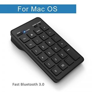 Cateck Bluetooth Clavier numérique externe de 23 touches sans fil pour iMac, Macbook, Macbook Pro, ordinateur avec OS X System-Noir de la marque Cateck image 0 produit