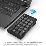 Cateck Bluetooth Clavier numérique externe de 23 touches sans fil pour iMac, Macbook, Macbook Pro, ordinateur avec OS X System-Noir de la marque Cateck image 5 produit