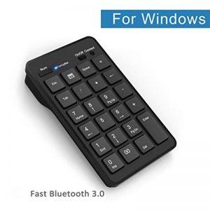 Cateck Bluetooth Clavier numérique externe de 23 touches sans fil pour ordinateur portable ou ordinateur de bureau Windows, Noir de la marque Cateck image 0 produit