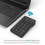 Cateck Bluetooth Clavier numérique externe de 23 touches sans fil pour ordinateur portable ou ordinateur de bureau Windows, Noir de la marque Cateck image 5 produit