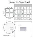 Cateck pavé numérique Bluetooth sans fil à 28 touches rechargeable pour iMac, MacBook Air, MacBook Pro, MacBook et Mac Mini de la marque Cateck image 1 produit