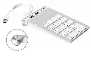 Cateck Pavé numérique USB avec concentrateur USB 3.0 et adaptateur son externe stéréo intégré pour iMac, MacBook, MacBook Air, MacBook Pro, Mac Mini, PC et ordinateurs portables de la marque Cateck image 0 produit