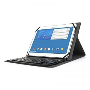 """Clavier Bluetooth AZERTY français, CoastaCloud Étui Housse Magnétique Wireless Keyboard pour Tablette 9.0-10.5"""" et Système iOS, Android, Windows de la marque CoastaCloud image 0 produit"""