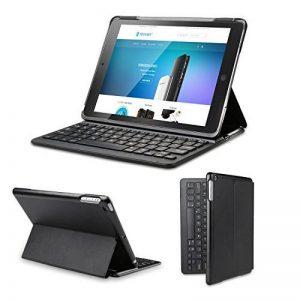 Clavier étui iPad Air 2 TeckNet Étui de protection pour iPad Air 2 Etui avec Clavier sans fil Bluetooth en AZERTY français de la marque TeckNet image 0 produit