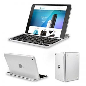 Clavier étui iPad Mini, TeckNet Ultrathin Clavier Sans fil Bluetooth AZERTY magnétique pour Apple iPad Mini 3/2/1, avec la fente multi-angle flexible de la marque TeckNet image 0 produit