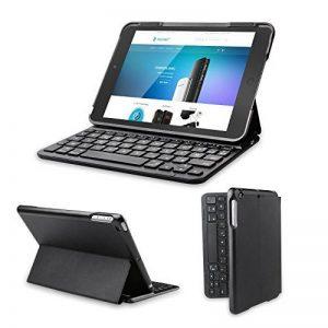 Clavier étui iPad, TeckNet Étui de protection pour iPad Mini 3/2/1, Etui avec Clavier sans fil Bluetooth en AZERTY français de la marque TeckNet image 0 produit