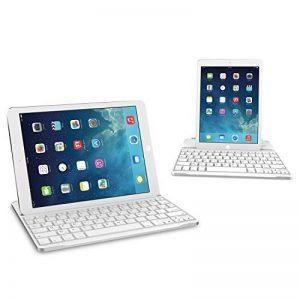 Clavier étui iPad, TeckNet Ultrathin Clavier Sans fil Bluetooth AZERTY magnétique pour Apple iPad 4/3/2, avec la fente multi-angle flexible de la marque TeckNet image 0 produit
