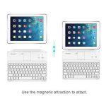 Clavier étui iPad, TeckNet Ultrathin Clavier Sans fil Bluetooth AZERTY magnétique pour Apple iPad 4/3/2, avec la fente multi-angle flexible de la marque TeckNet image 3 produit