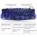 Clavier Gaming et Souris - MFTEK USB filaire LED 3 Couleur Clavier rétroéclairé et DPI Ajustable Souris Set de la marque MFTEK image 1 produit