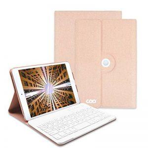 Clavier iPad Mini 4, COO Coque iPad Mini 4 avec Clavier Bluetooth Intégré Amovible pour Apple iPad Mini 4 (Modèle A1538/A1550) avec Rotation de 360 Degrés et Support Multi-Angles (Champagne-2) de la marque MORECOO image 0 produit