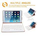 Clavier iPad Mini 4, COO Coque iPad Mini 4 avec Clavier Bluetooth Intégré Amovible pour Apple iPad Mini 4 (Modèle A1538/A1550) avec Rotation de 360 Degrés et Support Multi-Angles (Champagne-2) de la marque MORECOO image 2 produit