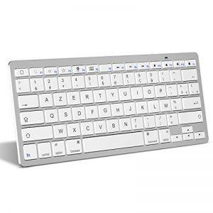 clavier ordinateur blanc sans fil TOP 2 image 0 produit