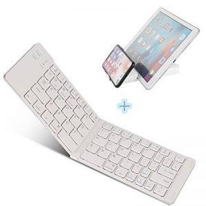 Clavier Pliable Bluetooth pour iOS/ Android/ Windows, IKOS Pliage Clavier Bluetooth sans Fil Ultra-mince pour iphone X 8 7 6S 6 Plus, Tablettes PC et Smartphones de la marque IKOS image 0 produit