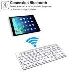 Clavier sans fil, Clavier Bluetooth Sans Fil Français AZERTY ultra-mince clavier applicable uniquement au système iOS de Smartphone/PC/Tablette,ipad mini2,ipad mini4/iPad Air/ iPhone de la marque F.G.S image 2 produit