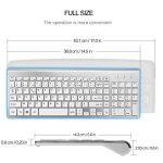 clavier souris blanc sans fil TOP 4 image 2 produit
