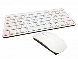 clavier souris blanc sans fil TOP 9 image 0 produit