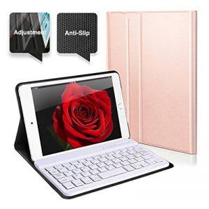 Coque Pour iPad Mini 4 Clavier Bluetooth en AZERTY, Étui de Protection avec Support Multi Angles Sommeil Veille Automatique de la marque Feelka image 0 produit
