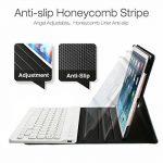 Coque Pour iPad Mini 4 Clavier Bluetooth en AZERTY, Étui de Protection avec Support Multi Angles Sommeil Veille Automatique de la marque Feelka image 2 produit