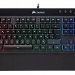 Corsair K55 Clavier Gaming (Rétro-Éclairage RGB Multicolore, AZERTY) Noir de la marque Corsair image 3 produit