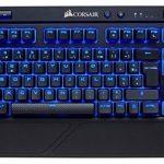 Corsair K63 Clavier Mécanique Gaming sans Fil (Cherry MX Red, Rétro-Éclairage LED Bleu, AZERTY) Noir de la marque Corsair image 1 produit