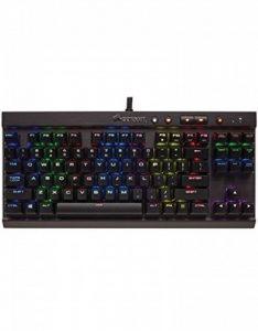 Corsair K65 LUX Clavier Mécanique Gaming (Cherry MX Red, Rétro-Éclairage RGB Multicolore, AZERTY) Noir de la marque Corsair image 0 produit