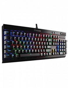 Corsair K70 LUX RGB Claiver Mécanique Gaming (Cherry MX Red, Rétro-Éclairage RGB Multicolore, AZERTY) Noir de la marque Corsair image 0 produit