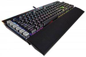 Corsair K95 RGB Platinum Clavier Mécanique Gaming (Cherry MX Brown, Rétro-Éclairage RGB Multicolore, AZERTY) Noir de la marque Corsair image 0 produit