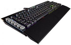 Corsair K95 RGB Platinum Clavier Mécanique Gaming (Cherry MX Speed, Rétro-Éclairage RGB Multicolore, AZERTY) Noir de la marque Corsair image 0 produit