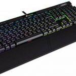 Corsair K95 RGB Platinum Clavier Mécanique Gaming (Cherry MX Speed, Rétro-Éclairage RGB Multicolore, AZERTY) Noir de la marque Corsair image 1 produit