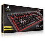 Corsair STRAFE Clavier Mécanique Gaming (Cherry MX Red, Rétro-Éclairage Rouge, AZERTY) Noir de la marque Corsair image 4 produit