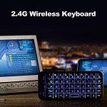 Docooler 2.4G clavier sans fil plein écran souris Touchpad Combo avec rétro-éclairé pour Android Windows Smart TV noir de la marque Docooler image 2 produit