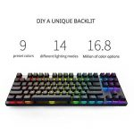 DREVO Tyfing V2 87 touches clavier mécanique Gamer Tenkeyless-RGB rétro-éclairé personnalisé-macro programmable-contrôle média-avec support du logiciel- Outemu linéaire - US Layout Commutateur Rouge, Noir de la marque DREVO image 2 produit